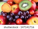 Assortment Of Juicy Fruits  ...