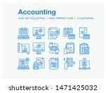 accounting icons set. ui pixel...