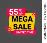 55  off mega sale vektor label... | Shutterstock .eps vector #1471429988