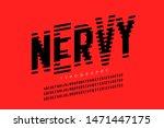 nervous  irritable style font...   Shutterstock .eps vector #1471447175