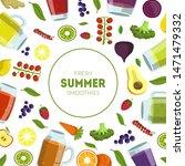 fresh summer smoothies banner... | Shutterstock .eps vector #1471479332
