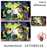 old witch teaches little witch... | Shutterstock .eps vector #1471483118