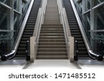 Escalator Stairs Going Up To...