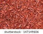 A Closeup Shot Of Red Mulch...