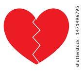 red heart icon vector design | Shutterstock .eps vector #1471496795