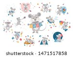 big set of  ute cartoon grey... | Shutterstock .eps vector #1471517858