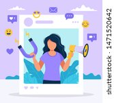 social media influencer.... | Shutterstock .eps vector #1471520642