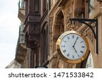 Closeup Of Vintage Clock In Th...