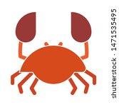 Crab Icon. Flat Illustration O...