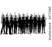 silhouettes of people | Shutterstock . vector #1471560