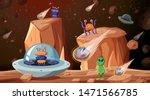 aliens in space scene...   Shutterstock .eps vector #1471566785