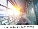 Sun Shining Modern Office...