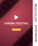 cinema festival with film strip ... | Shutterstock .eps vector #1471573748