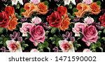 seamless floral pattern with... | Shutterstock . vector #1471590002