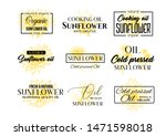 Sunflower Oil Logos Set ...