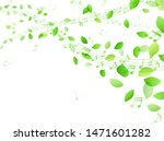 dancing green leaves and music... | Shutterstock .eps vector #1471601282