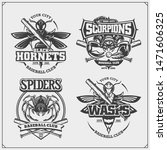 baseball badges  labels and... | Shutterstock .eps vector #1471606325