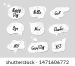 white and black speech bubbles... | Shutterstock .eps vector #1471606772