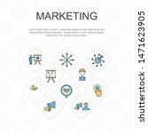 marketing trendy line icons...