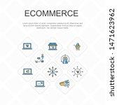 ecommerce trendy line icons...