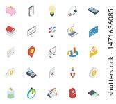 finance isometric vector icons...   Shutterstock .eps vector #1471636085