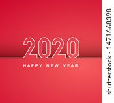 white lines new year 2020... | Shutterstock .eps vector #1471668398
