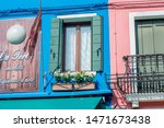 burano island in venice...   Shutterstock . vector #1471673438