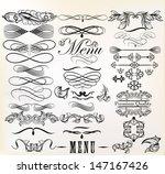 vector set of calligraphic... | Shutterstock .eps vector #147167426