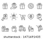 set of gift box icons  such as... | Shutterstock .eps vector #1471691435