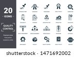 quality control icon set.... | Shutterstock .eps vector #1471692002