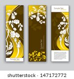abstract floral banners. vector ... | Shutterstock .eps vector #147172772