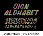 hand drawn colorful typeface on ... | Shutterstock .eps vector #1471735355