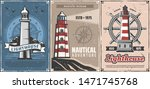 Lighthouses With Vintage...