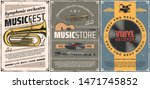 musical instruments and vinyl... | Shutterstock .eps vector #1471745852