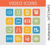 video icons | Shutterstock .eps vector #147174692