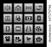 set of video icons | Shutterstock .eps vector #147174746