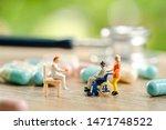 miniature people  senior couple ... | Shutterstock . vector #1471748522