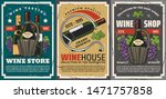 wine shop or winery store...   Shutterstock .eps vector #1471757858