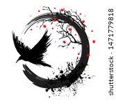 Black Grunge Tree And Bird...