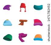 warm winter headwear icon set.... | Shutterstock .eps vector #1471782452