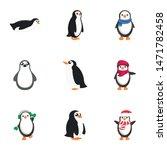 christmas penguin icon set....   Shutterstock .eps vector #1471782458