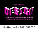 isometric 3d font design  three ... | Shutterstock .eps vector #1471802252