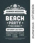 retro summer party design... | Shutterstock .eps vector #147182606