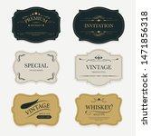 vintage label banner badges set.... | Shutterstock .eps vector #1471856318