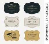 vintage label banner badges set....   Shutterstock .eps vector #1471856318