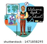 return back to school flat... | Shutterstock .eps vector #1471858295