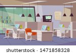 empty office flat vector... | Shutterstock .eps vector #1471858328