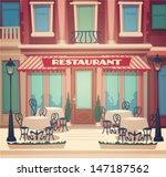 restaurant facade. vector...   Shutterstock .eps vector #147187562