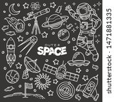 outer space related objects and ... | Shutterstock .eps vector #1471881335