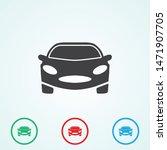 a car icon. a symbol of a car...   Shutterstock .eps vector #1471907705